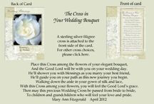 The Cross in Your Wedding Bouquet / A beautiful heirloom to pass on through the generations.