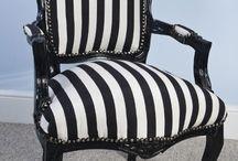 Furniture Trend - Stripes / Furniture featuring stripes! Create your own furniture www.hiddenmill.com