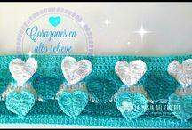 puntos con relieve a crochet