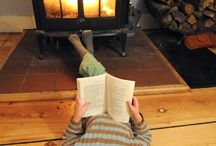 Rain, Rain Go Away  / On bad weather days, there's nothing better than curling up in front of the fireplace with a good book and cup of hot cocoa. Electric fireplaces are a great alternative if you don't have a chimney.