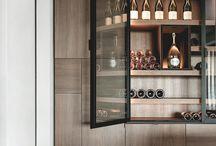 Bodegas o muebles para vino en cocinas y oficios