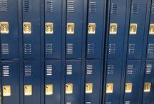 Watersprings High School - Idaho Falls, ID #DeBourgh #Lockers / #Corregidoor #NavyBlue #SentryThreeLatch #PianoHinge #LouveredVentilation #ClosedBase #SlopeTop #DeBourgh #Lockers