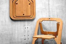 Foldable Furniture / Saving space is key in some places. plus the designs are pretty amazing