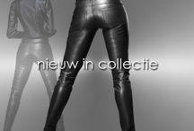 Leatherlook broeken voor dames en heren