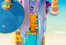 Beach hijab style