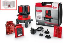 """Lieca Lino L4P1 / The most powerful multi line laser level Leica Lino L4P1 for leveling, alignment and layout tasks. The 360° rotation base with precise fine adjustment supports easy 90° layouts of whole rooms. The smart Li-Ion power concept allows nonstop working up to 24h.  Leica Lino L4P1 honoured with Red Dot Design Award 2016  A distinguished panel of 41 experts Honoured The Leica Lino L4P1 with the """"Red Dot Award: Product Design 2016"""" for its outstanding quality, innovativeness and excellent design."""
