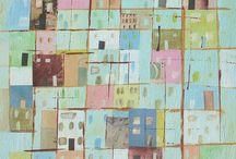 Landkaarten in kunst.