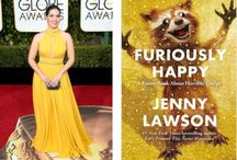 Golden Globes Dresses as Book Covers (from toobusytoread.tumblr.com)