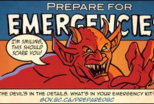 Be prepared, not scared! / Don't feel haunted by potential hazards, natural disasters or attacks from the supernatural! Follow our spooky advice and get prepared today. Learn more at www.gov.bc.ca/PreparedBC