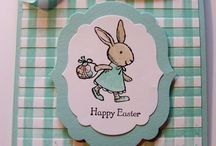 Stamped Easter bunny card