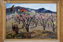 Oil Paintings by California Artists / Early California and American oil paintings