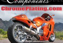 Classic Components  / Chrome Plated Motorcycle Rims & Chrome Plated Custom Cars