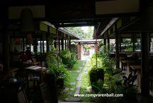 Decoración restaurante japones / restaurante japones decorado con maderas antiguas y orgánicas.   Diseño, producción y fabricación exclusiva y ecológica por www.comprarenbali.com