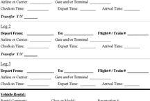 Templates - Travel Itinerary