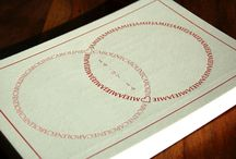 Letterpress Wedding Invitations, Combined Rings