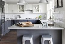 Glamourous Greys / Grey kitchens are here to stay. Smart, stylish and timeless - here are some ideas of how to use grey in the kitchen successfully.