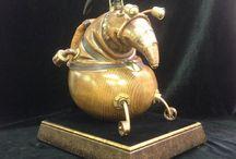 Steampunk art figures