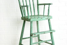 High chairs / I bought an old high chair and can't decide what color to paint it. Initial thought was minty green.