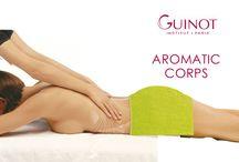 Aromatic Corps / Aromatic Corp è un massaggio snellente con Oli Anti-Cellulite disintossicante di Guinot che rompe le cellule adipose e aumenta il rilascio di tossine e la circolazione aiutando a rafforzare le pareti dei capillari.