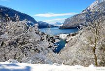 Molveno d'inverno / Il fascino della neve e del ghiaccio rendono Molveno ancora più preziosa... Naturalmente in Trentino, sotto le Dolomiti di Brenta