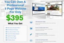 Professional 5 Page Website for Only $395 / We help new and existing customers get a professional 5 page HTML 5 compliant website starting at $395. The best thing is you own your design. You get 5 pages, 5 royalty free images and a contact form with spam blocker