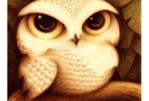 my owls(⊙o⊙)(⊙o⊙) / by The sculp(⊙o⊙)