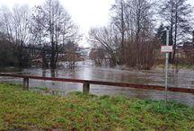 Dezemberhochwasser in Oberfranken 2015 / Nach tagelangem Regen in Oberfranken stiegen die Pegel von Bächen und Flüssen stark an und erreichten vermehrt die höchsten Meldestufen. Wir fassen das Geschehen in Bildern aus Arzberg zusammen!