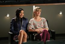 santana + brittany / [ i used to sit in the back row and secretly watch you. i counted the number of times you'd smile at me, and i'd die on days that you didn't. ] +glee