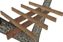 anclajes plataforma en el árbol