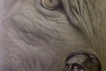 Disegni tecnica mista-grafite e matite
