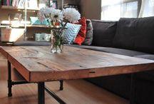 Деревянные кофейные столики