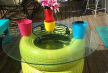 tired tires- upcycle!
