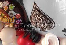 Festa tema Las Vegas / Festa 18esimo tutta in tema Las Vegas con i nostri fantastici palloncini