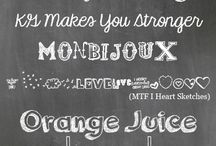 fonts / by Piccolecose