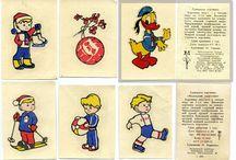 Наклейки / Советские игры, игрушки и детские книги СССР - http://samoe-vazhnoe.blogspot.ru/