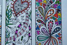 Zen tangles/doodles and mandalas