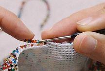 crochet con mostacilla