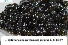 Caviar / Caviar / Aquí trobaràs curiositats sobre el caviar / Aquí encontrarás curiosidades sobre el caviar