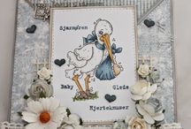 Magnolia baby card
