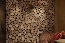 wood log wall