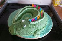 crocodile cake / the cake my husband made