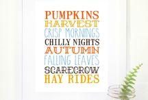 Seasonal Printables / Home decor