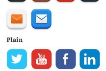 Social Media Icons / This board showcases social media icons and tabs for websites to use, that look good.