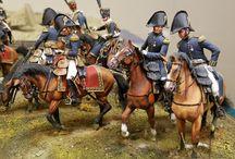 Napoleonic war dioramas