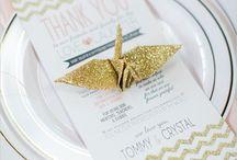 Matrimonio a tema origami/ Origami wedding theme