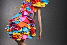 sukienki z papieru