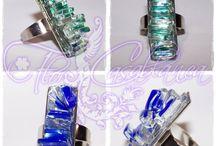 Bisutería en vidrio por Flor Casablanca / Diseños y creaciones realizadas en diversos tipos de vidrio