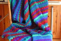 Knitting with a machine / Blankets, covers, shawls, hats, knitted on various knitting machines.