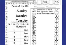SELECTION OF FREE PRINTABLE WORKSHEETS  (  GRADES K, 1 TO 6 ) / resources / by Shirley Power