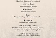 Tavern style menu